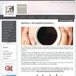 Opération « café suspendu tournaisien »