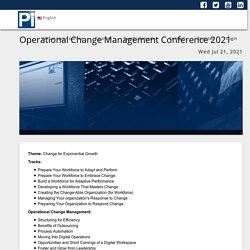 Operational Change Management Conference 2021 - Virtual