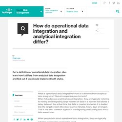 How do operational data integration and analytical integration differ?