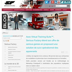 Virtual Training Suite, serious game, solution de suivi opérationnel des apprenants