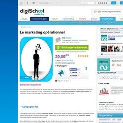 Le marketing opérationnel, cours marketing à télécharger gratuitement