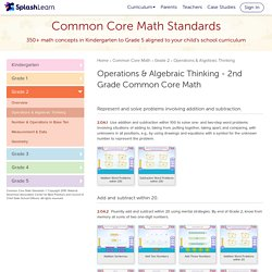 Operations & Algebraic Thinking - Second Grade Common Core Math