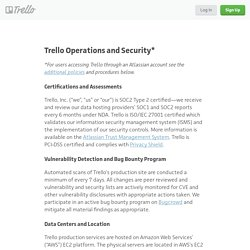 Operations and Security