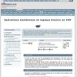 Opérations booléennes et logique binaire en PHP