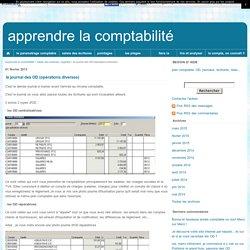 le journal des OD (opérations diverses) - apprendre la comptabilité
