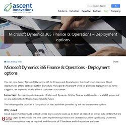 Microsoft Dynamics 365 Finance & Operations - Deployment options