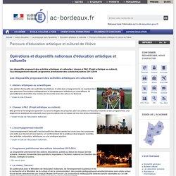 Opérations et dispositifs nationaux d'éducation artistique et culturelle - ac-bordeaux.fr