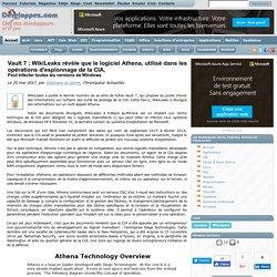 Vault 7 : WikiLeaks révèle que le logiciel Athena, utilisé dans les opérations d'espionnage de la CIA, peut infecter toutes les versions de Windows