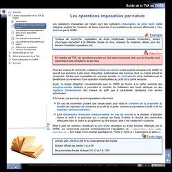 Guide de la TVA au CNRS - Les opérations imposables par nature