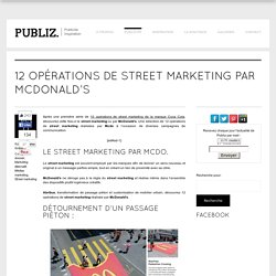 12 opérations de street marketing par McDonald's