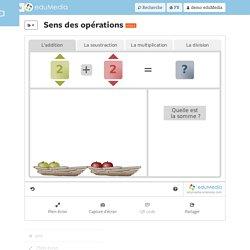 Sens des opérations – simulation, animation interactive – eduMedia