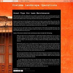 Sietsma Landscape Operations Inc