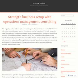Strength business setup with operations management consulting