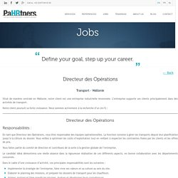 Directeur des Opérations - General Management, Operations and Supply Chain - Transport - PaHRtners