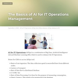 The Basics of AI for IT Operations Management - AI for IT Operations AIOps best AIOps solutions AIOps solution in US