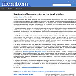 How Operations Management System Can Help Growth of Business