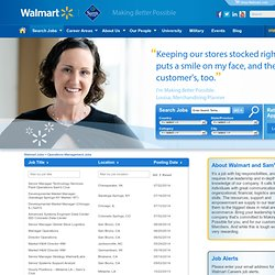 Operations Management jobs at Walmart