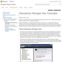 Operations Manager Key Concepts