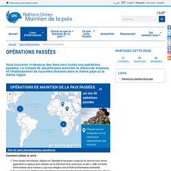 Nations Unies Maintien de la paix