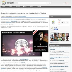2 new Anon Operations promote net freedom in US, Tunisia