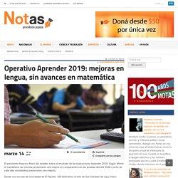 Operativo Aprender 2019: mejoras en lengua, sin avances en matemática