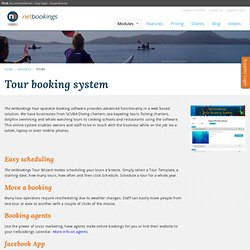 Online tour operator booking and reservation system