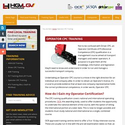 Operator CPC Training -