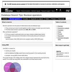Boolean operators - Database Search Tips - LibGuides at MIT Libraries