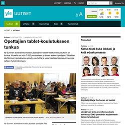 Opettajien tablet-koulutukseen tunkua