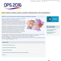 OPS 2016 - Esi- ja perusopetuksen opetussuunnitelman perusteiden uudistaminen