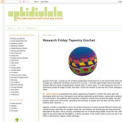 Research Friday: Tapestry Crochet