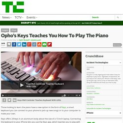 Opho's Keys Teaches You How To Play The Piano