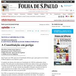 Opinião - A Constituição em perigo - 03/10