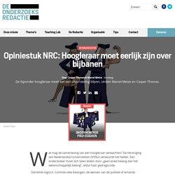 Opiniestuk NRC: Hoogleraar moet eerlijk zijn over bijbanen - De Onderzoeksredactie