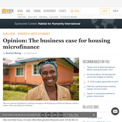 Opinion: The business case for housing microfinance