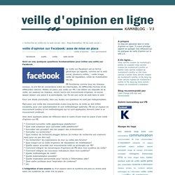 veille d'opinion sur Facebook: axes de mise en place - kamablog, veille d'opinion en ligne