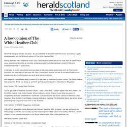 A low opinion of The White Heather Club