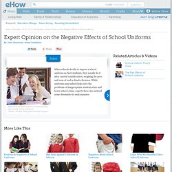 the positive effects of wearing school uniforms Do school uniforms improve students' behaviour or academic performance  they may have a small positive effect on language scores and attendance in middle and high schools,  is that.