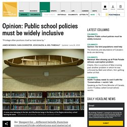 Opinion: Public school policies must be widely inclusive