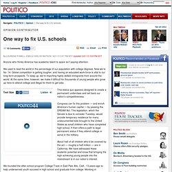 Opinion: One way to fix U.S. schools - Laurene Powell Jobs and Carlos Watson