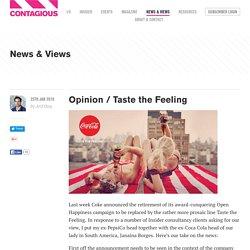 Opinion / Taste the Feeling