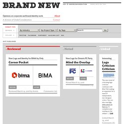 Brand New: Opinions on Corporate and Brand Identity Work