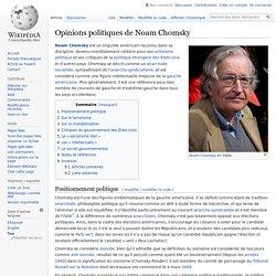 Opinions politiques de Noam Chomsky