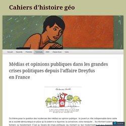Médias et opinions publiques dans les grandes crises politiques depuis l'affaire Dreyfus en France