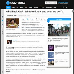 OPM hack Q&A: What we know and what we don't