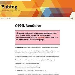 OPML Renderer » Yabfog