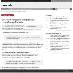 VVD stelt opnieuw derde publieke tv-zender ter discussie