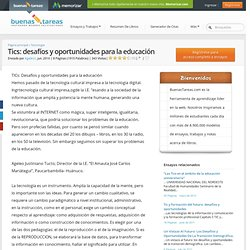 Tics: Desafíos Y Oportunidades Para La Educación - Documentos - Ageleo1