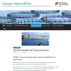 Oportunidades de Financiamento – Espaço Aquicultura