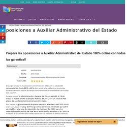 Oposiciones a Auxiliar Administrativo del Estado